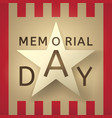 memorial day retro background vector image