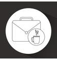 portfolio and coffee design vector image