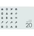 Set of bushcraft icons vector image