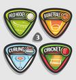 set of sport logos vector image