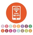 The wifi icon Free Wifi symbol Flat vector image