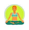 a girl yoga vector image
