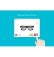 Online Glasses Store Flat Conceptual vector image