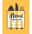 restaurant menu with cutlery vector image