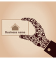 Hand the house4 vector image vector image