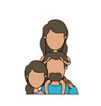 colorful caricature faceless half body family with vector image