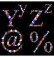 alphabet set 5 vector image vector image