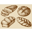 Bread set hand drawn vector image