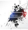 Black ink splash with abstract lines vector image