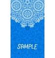Flyer wedding or invitation card Vertical banner vector image