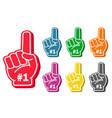 foam finger set vector image