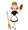 Maid vector image