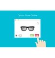 Online Glasses Store Flat Conceptual vector image