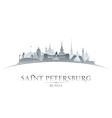 Saint Petersburg Russia city skyline silhouette vector image