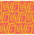 Seamless pop art pattern repeating doodle LOVE vector image