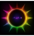 Shining rainbow lights abstract sun frame vector image