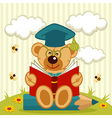 teddy bear professor vector image