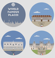 World famous places vector image