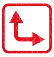 Bifurcation Arrow Right Up Icon Rubber Stamp vector image