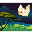 An owl flying vector image vector image