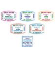 Various passport stamps vector image