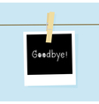 Good bye card vector image