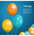 balloon infographic square vector image