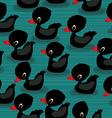 Black baby ducks vector image