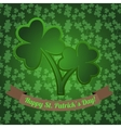 Irish shamrock with clover seamless pattern on the vector image