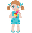 girl with cupcakes vector image vector image
