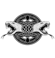 snake with celtic pattern vector image vector image