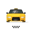 Taxi cab isolated on white vector image