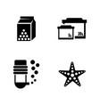 aquarium simple related icons vector image