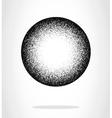 Black grunge circle vector image