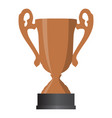 bronze cup winner third place on white background vector image