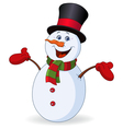 Cheerful snowman vector image