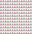 Colorful of boats and waves pattern vector image