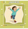 happy little boy who runs vector image
