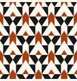 Pattern with stripe chevron geometric shapes vector image