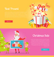 poster of best presents with love and xmas sale vector image vector image