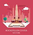 rockefeller center new york vector image