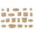 big set of isometric cardboard boxes isolated on vector image vector image