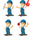 Technician or Repairman Mascot 10 vector image