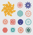 Sacred geometry icons set vector image vector image