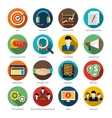 CRM Round Icons Set vector image