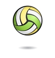 Volleyball with shadow vector image