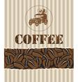 coffee with retro car vector image vector image