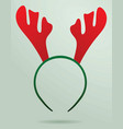 deer horn mask vector image