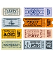 Entertainment party and cinema vintage vector image