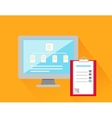 File System Concept Design Style vector image